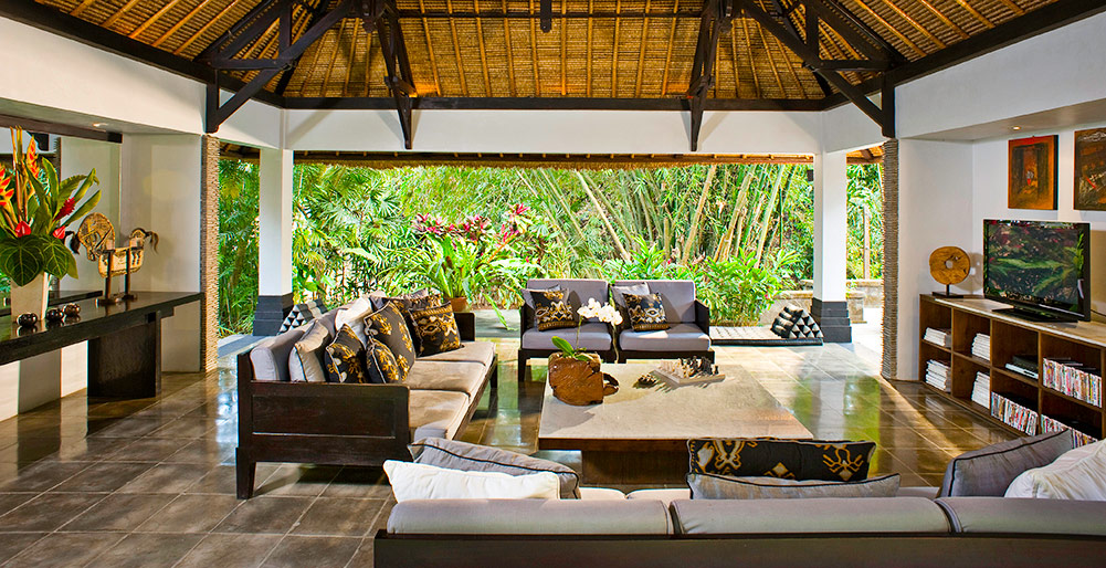 Villa Maya Retreat-Villa Maya Retreat - Living pavilion TV