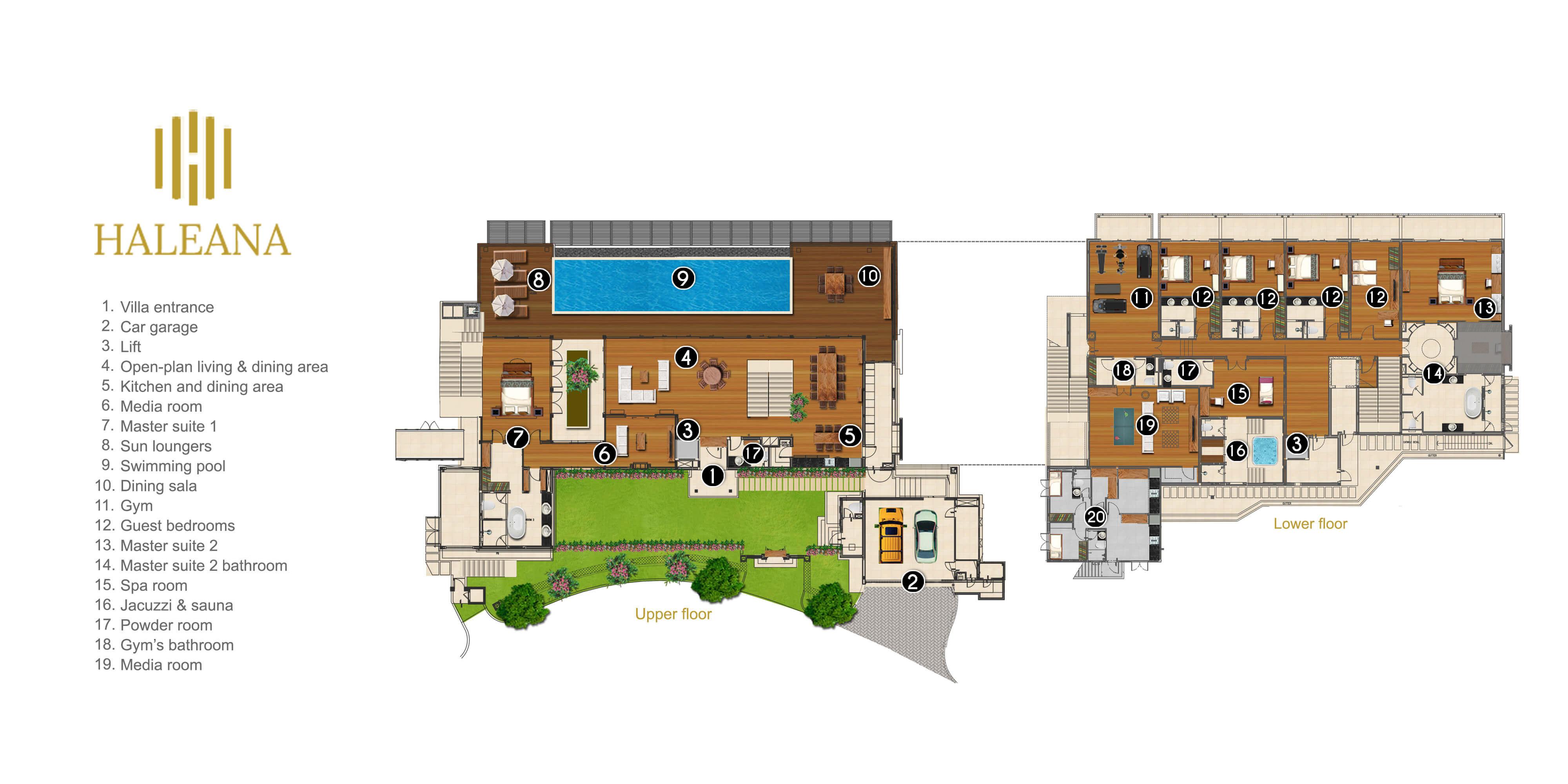 Malaiwana Villa Haleana Floorplan Elite Havens