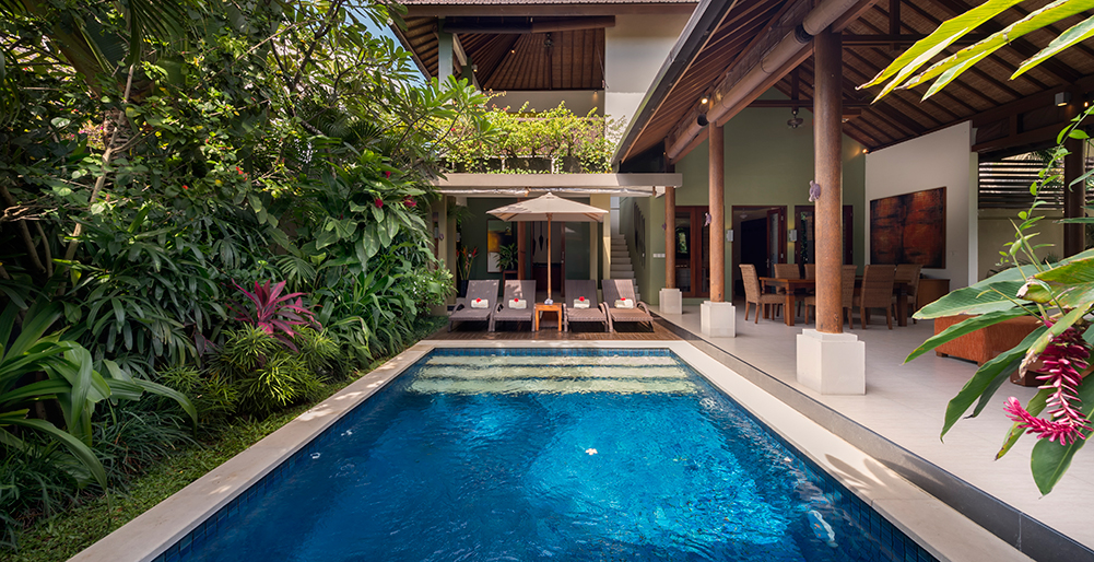 Lakshmi Villas - Ubud-Ubud - Pool and villa