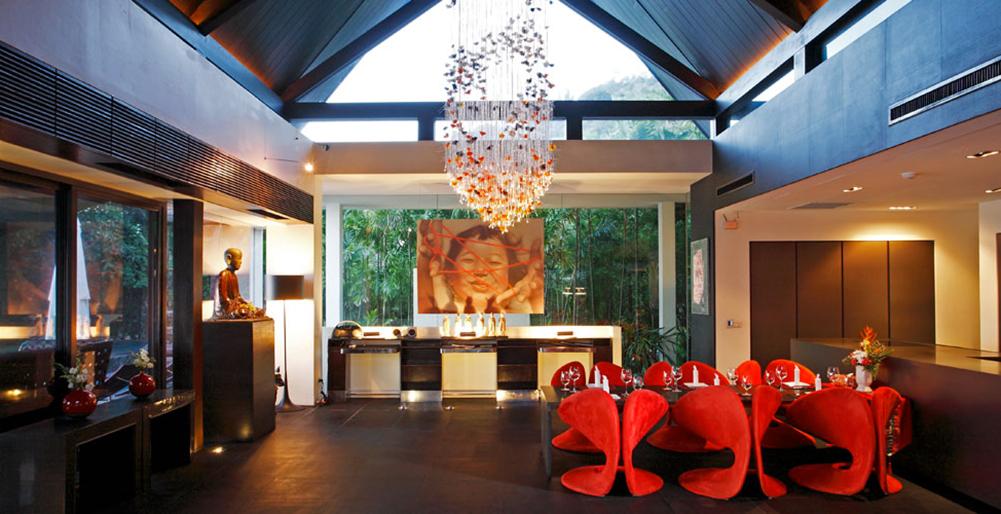 Exotisches Dekor im Schlafzimmer Design Hotel Phuket Thailand Wandteppich